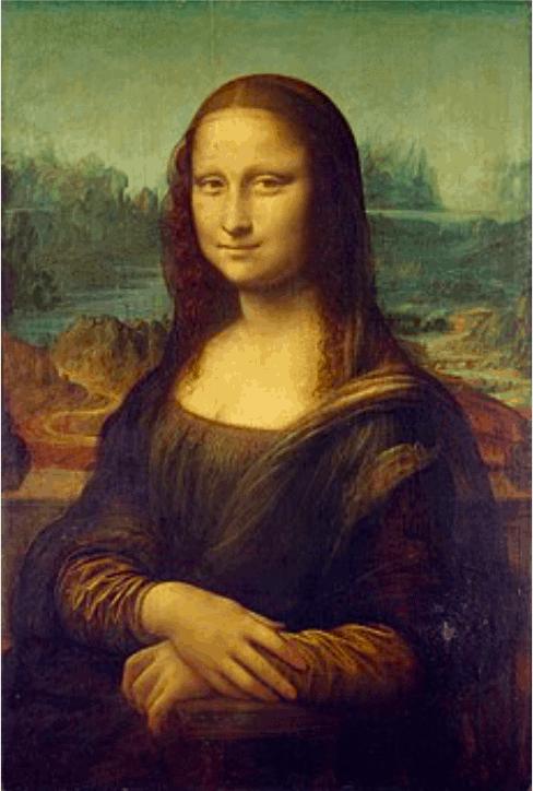 蒙娜麗莎的微笑大約是20f的作品