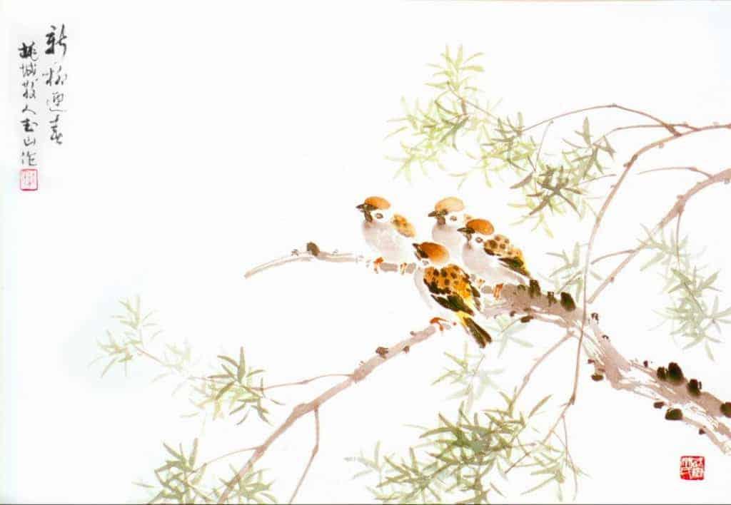 林玉山的雀鳥圖 展現細膩的觀察力