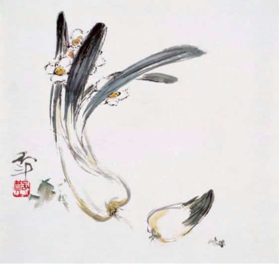 鄭月波作品「水仙」作於1986年