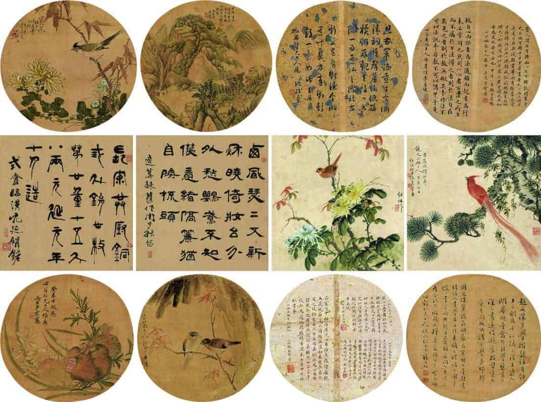 沈孜蘭、王紹祖等 花鳥十二幅 尺寸33x32