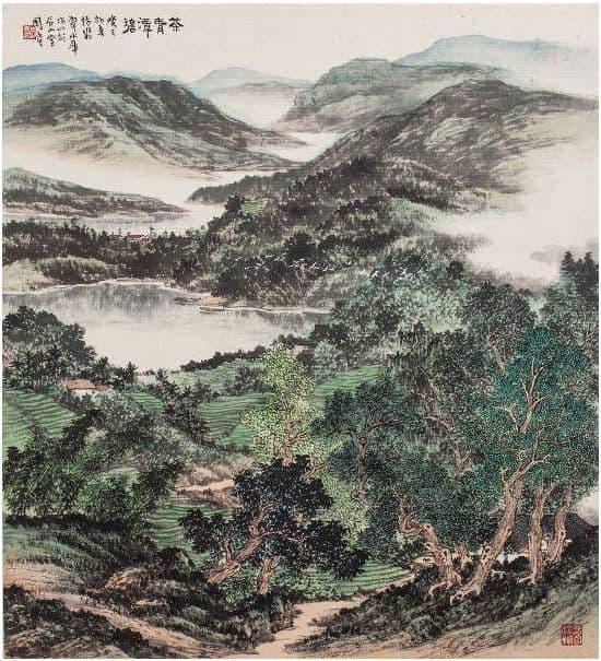 茶青潭碧 周澄繪出翡翠水庫壯麗景色